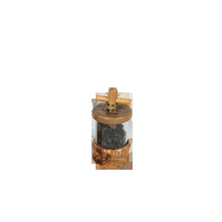 Moulinà Poivre en bois d'olivier Produit Artisanal # Moulin A Poivre En Bois